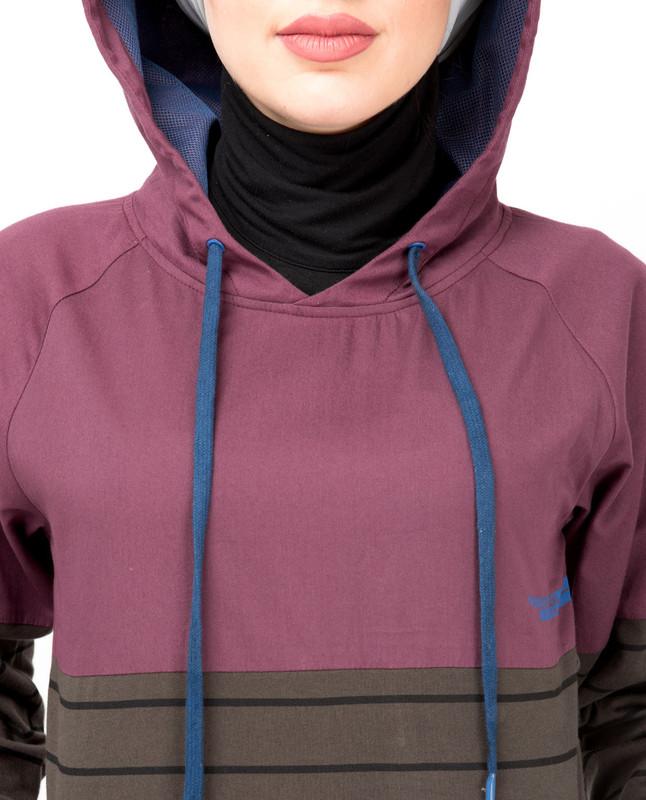 Plum Casual Hooded Jilbab