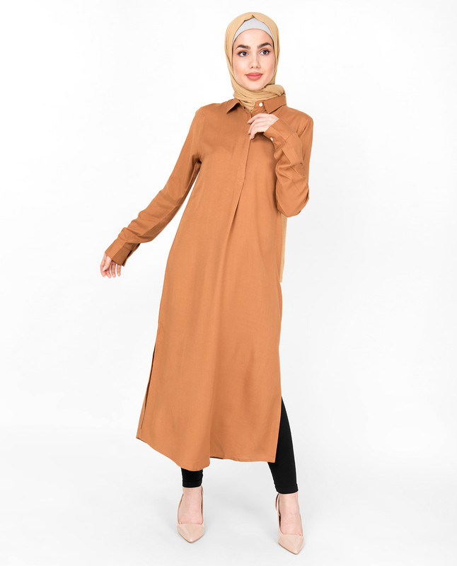 Sudan Brown Shirt Midi