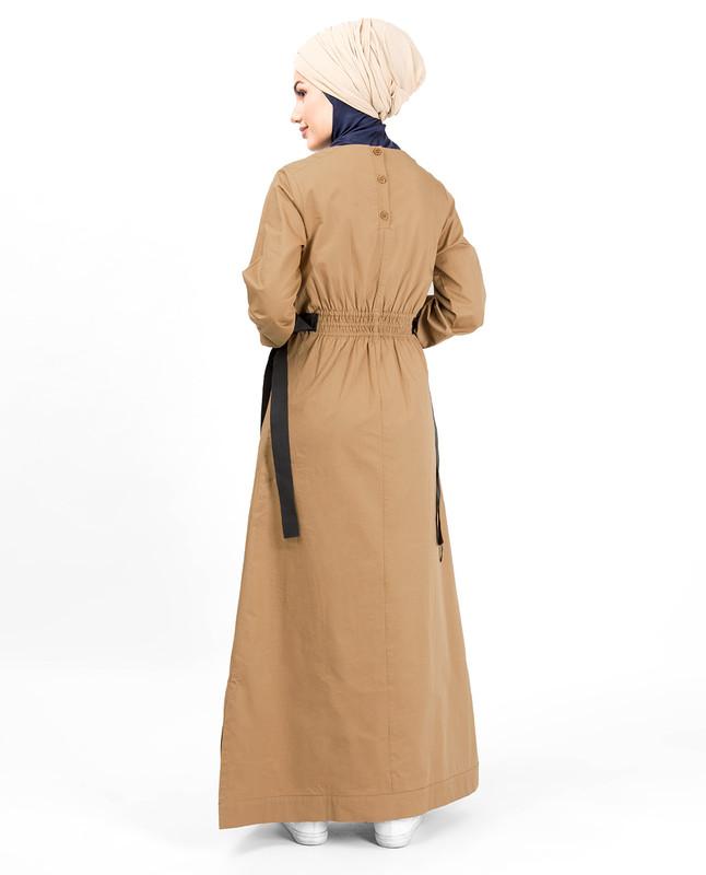 Shirring Elastic Belt Abaya