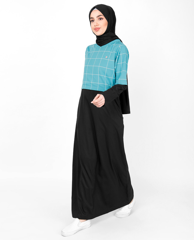BlueCheckeredJilbab