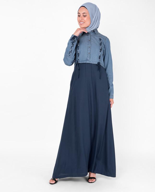 Eyelet Drawstring Inspired Abaya