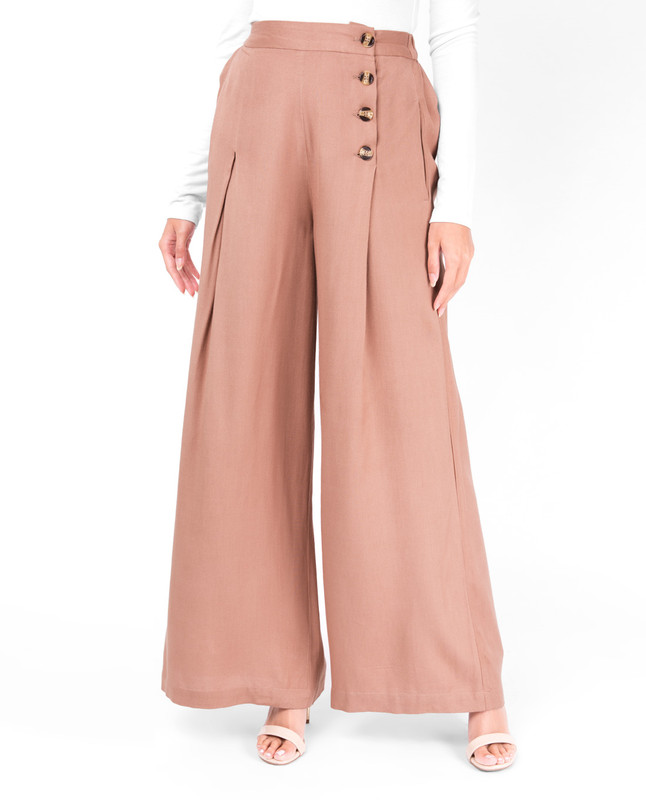 Tawny Birch Knife Pleat Trouser