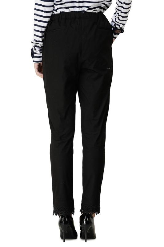 Black Lace Extendable Waist Trouser