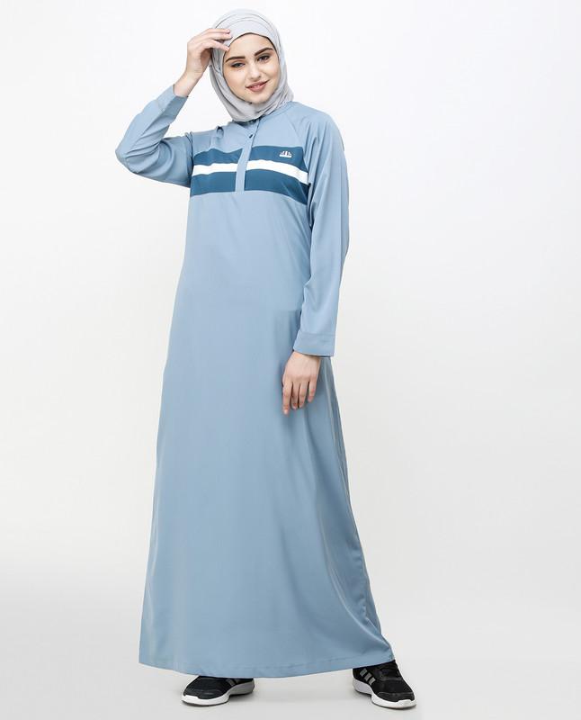 Citadel Blue Stripe Jilbab