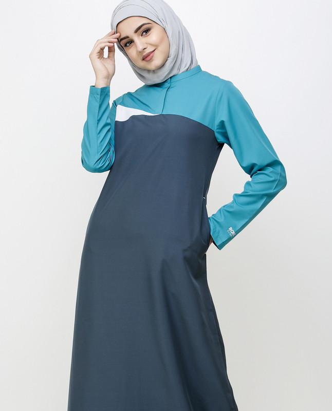 Dark Slate Teal Sporty Jilbab