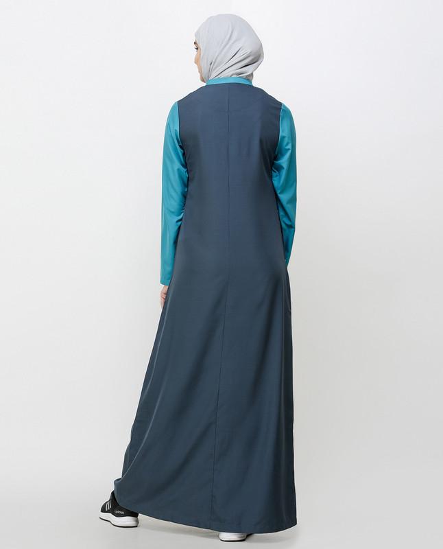 Dark Slate Teal Sporty Jilbab