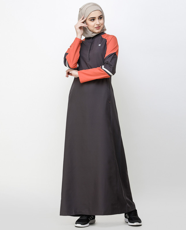 Shale Grey Angular Cut Jilbab