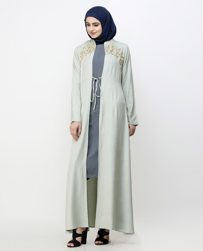 Gold Embroidered Sea Fog Outerwear