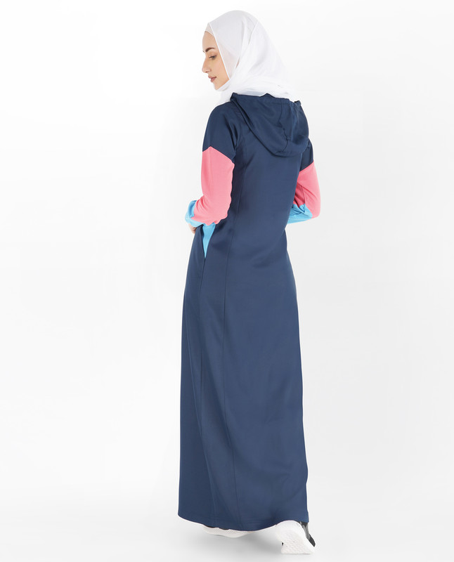 Indigo Blue and Heritage Blue Hoodie Jilbab