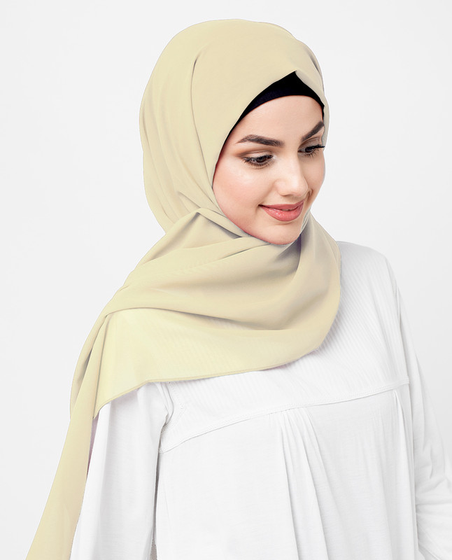 Tendor Yellow Poly Georgette Scarf