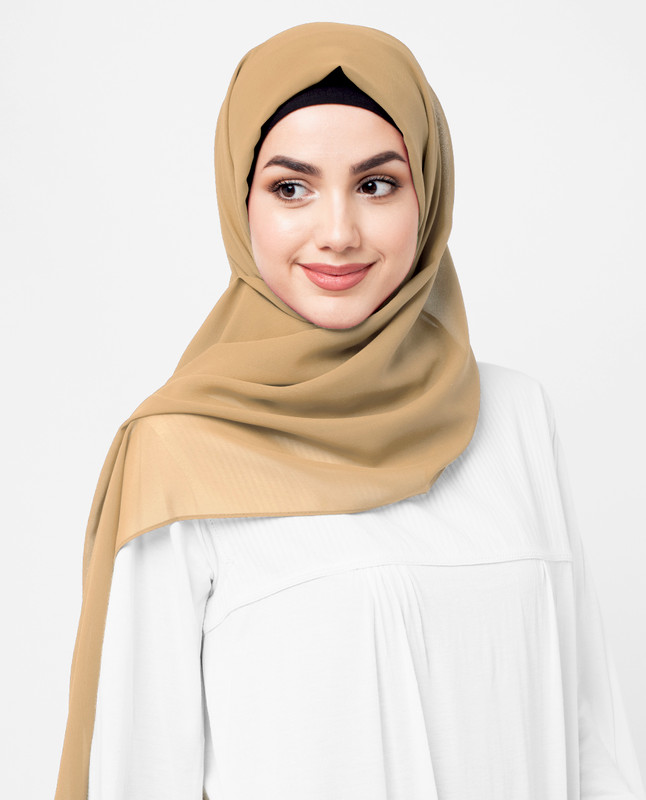 Golden Haze Poly Georgette Scarf