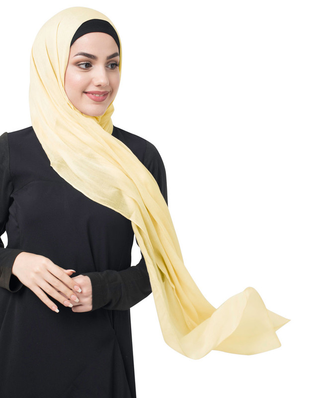 Tendor Yellow Cotton Voile Scarf