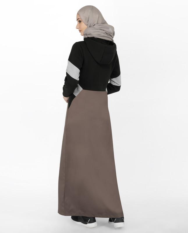 Black & Grey Hoody Jilbab