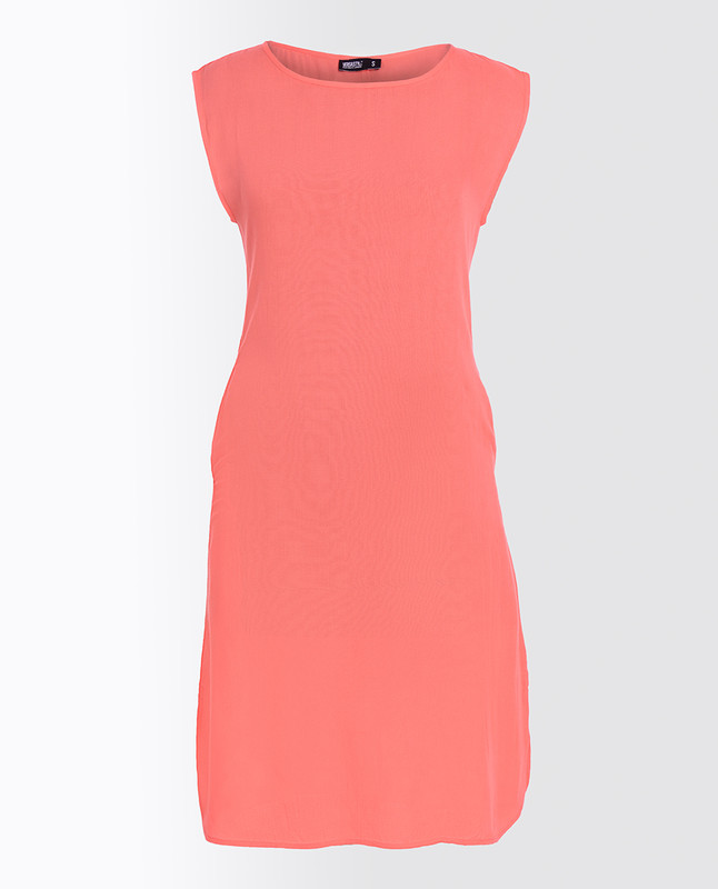 Strawberry Ice Pink Rayon Slip Dress