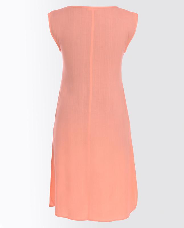 Coral Pink Rayon Slip Dress