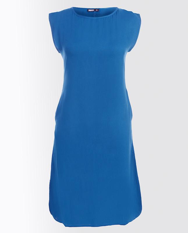 Stargazer Blue Rayon Slip Dress