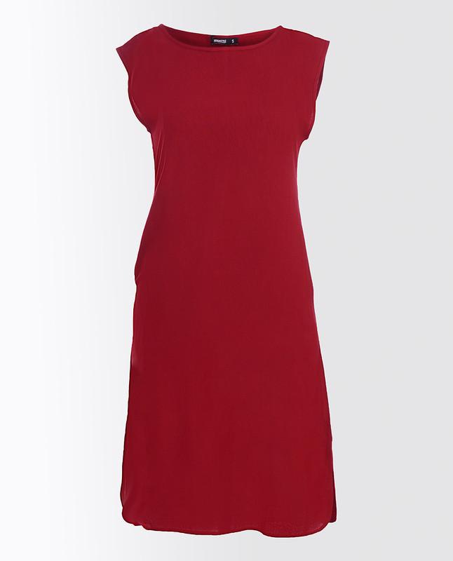 Rumba Red Rayon Slip Dress