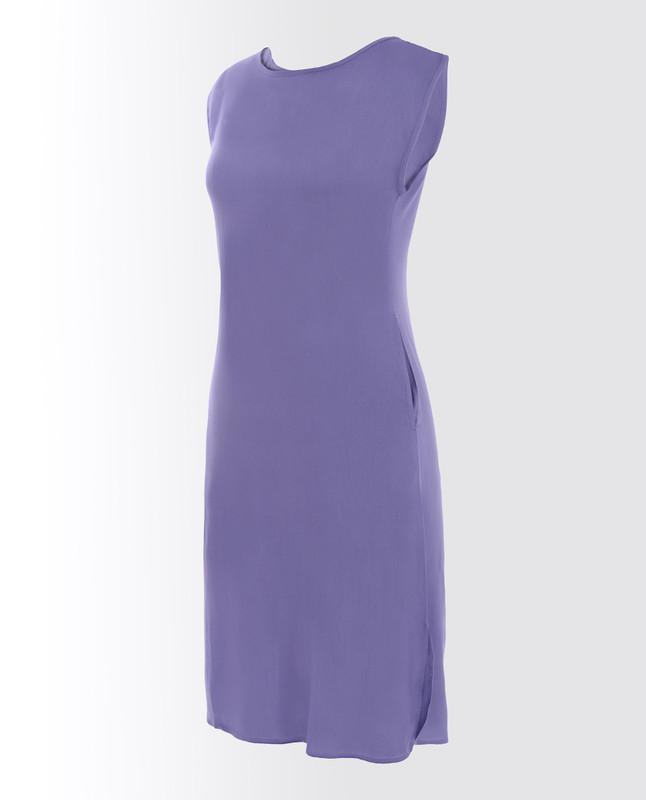 Coronet Blue Rayon Slip Dress