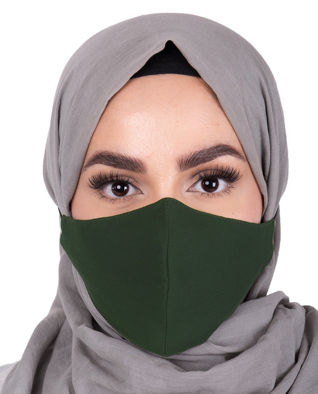 Pineneedle Hijab Friendly Button Fabric Mask