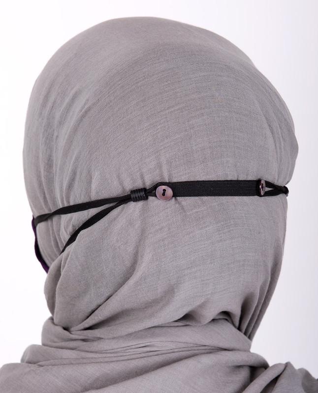 Amaranth Hijab Friendly Button Fabric Mask