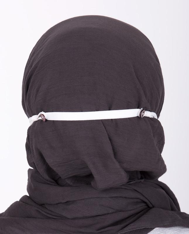 Sunset Gold Hijab Friendly Button Fabric Mask