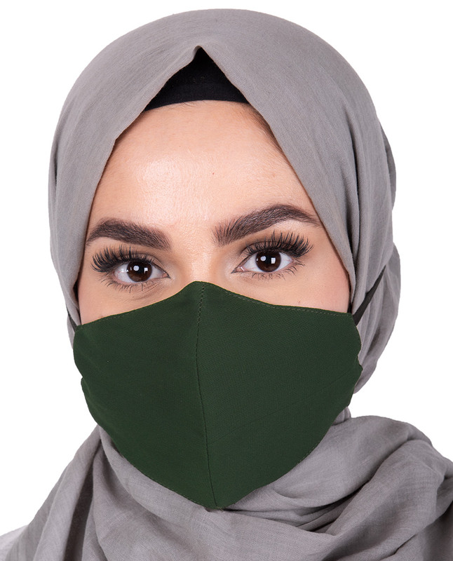 Pineneedle Hijab Friendly Toggle Fabric Mask