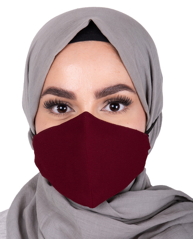 Rumba Red Hijab Friendly Toggle Fabric Mask