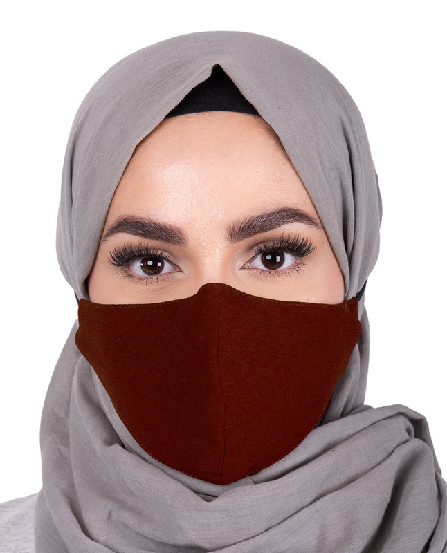 Rum Raisin Hijab Friendly Toggle Fabric Mask