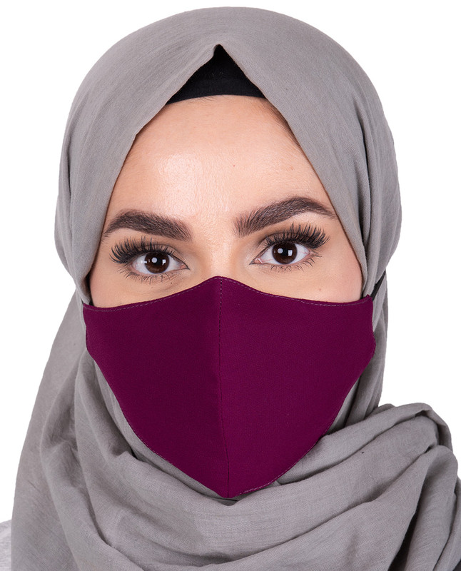 Amaranth Hijab Friendly Toggle Fabric Mask