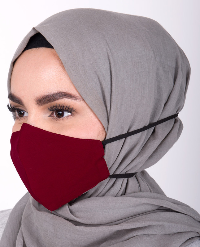 Chilli Pepper Hijab Friendly Toggle Fabric Mask