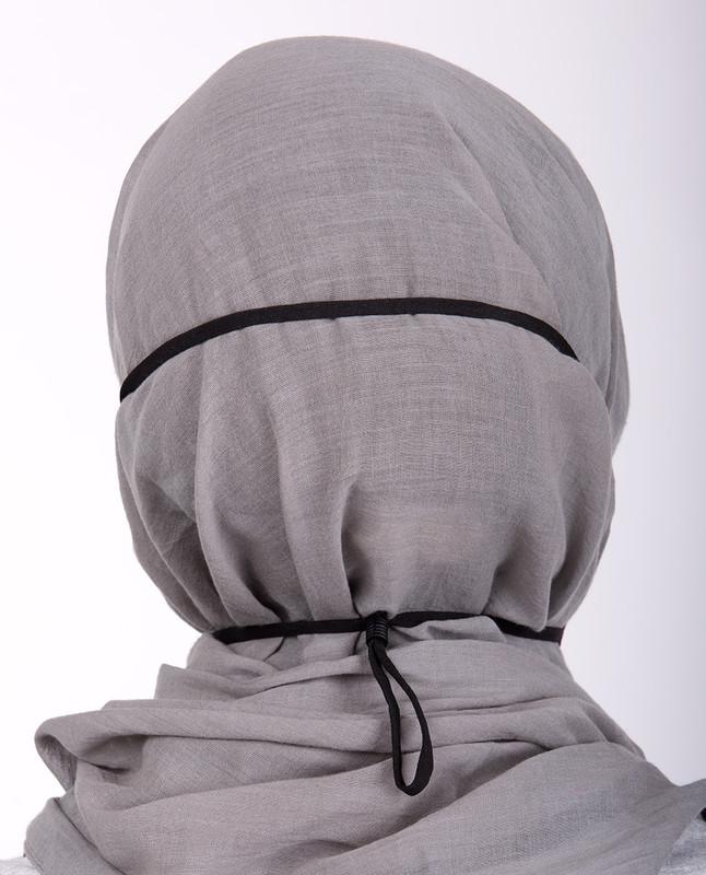 Plum Hijab Friendly Toggle Fabric Mask
