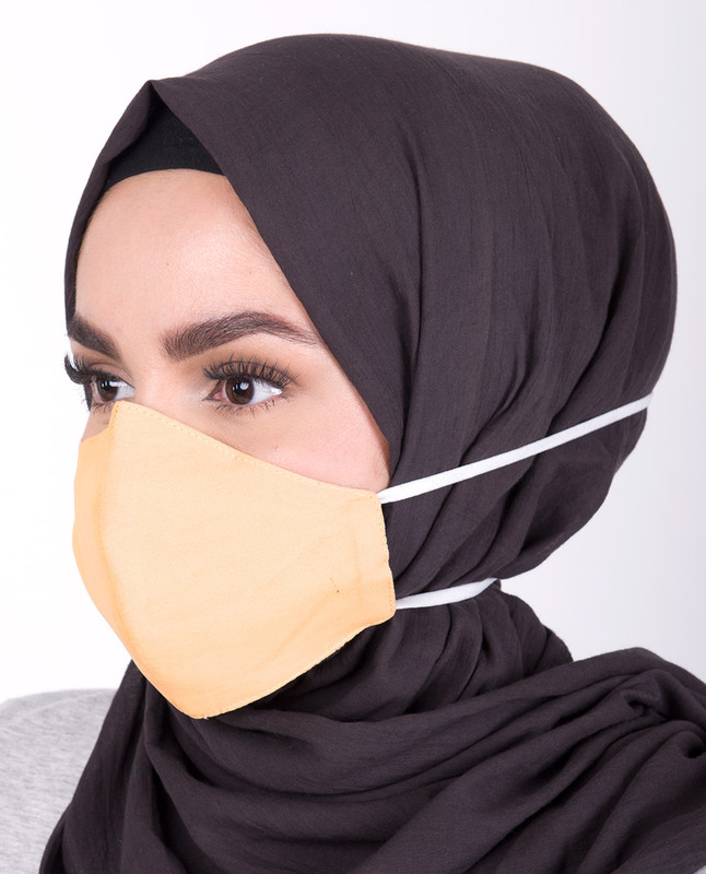 Golden Haze Hijab Friendly Toggle Fabric Mask