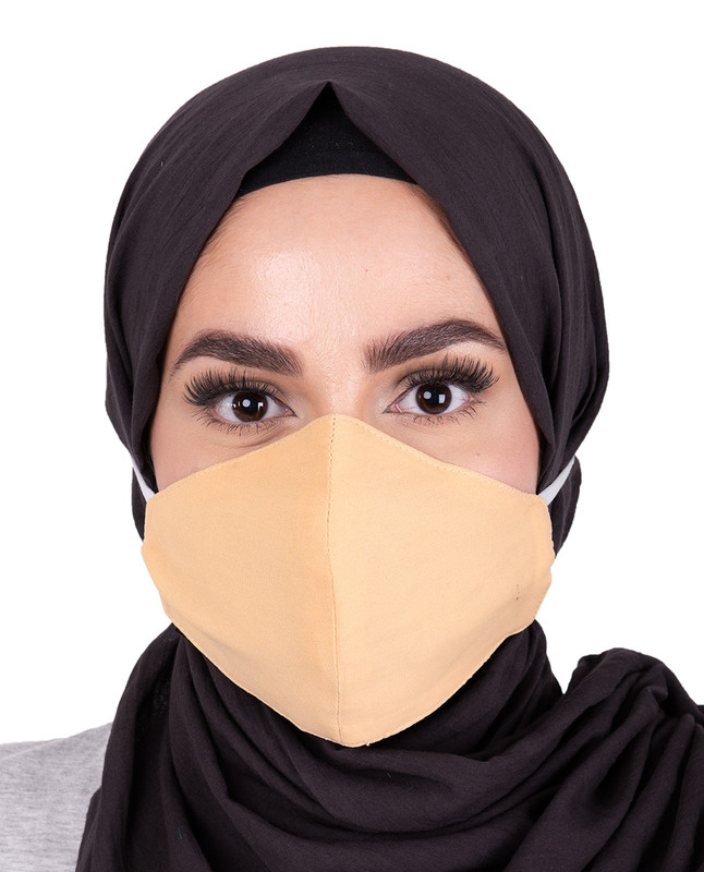 Golden Haze Hijab Friendly Toggle Fabric Mask