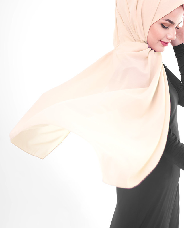 Macadamia Poly Georgette Scarf