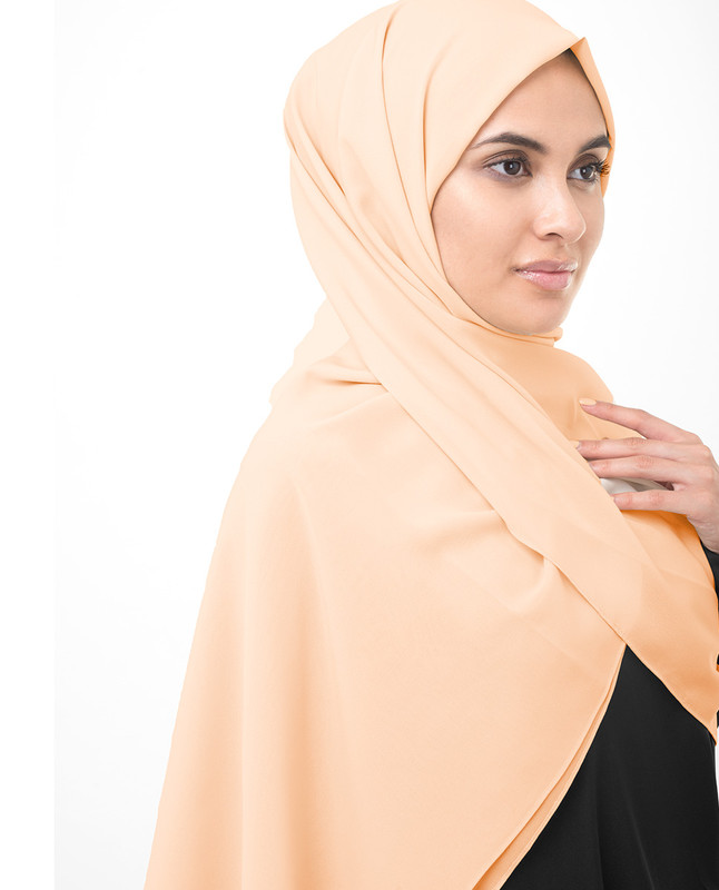 Toasted Almond Poly Georgette Scarf