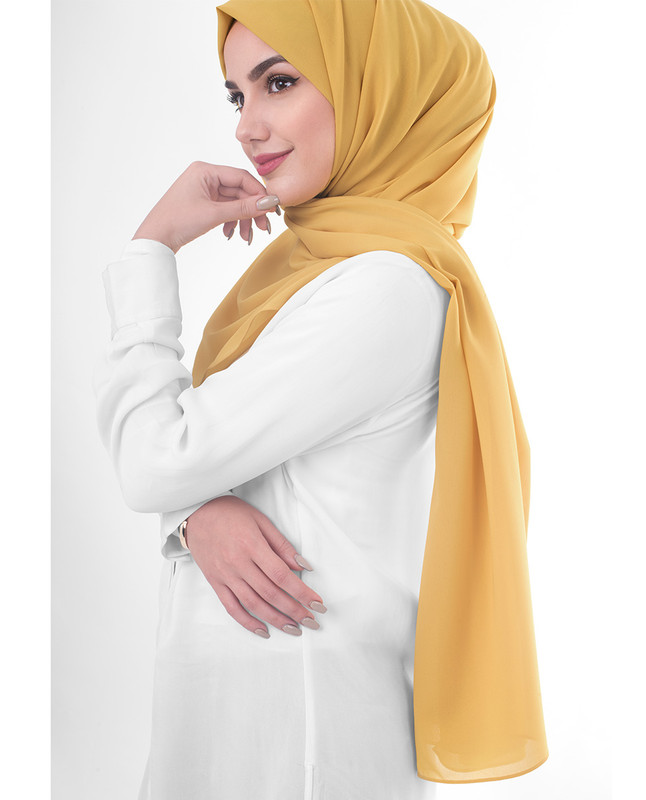 Clay Poly Georgette Scarf