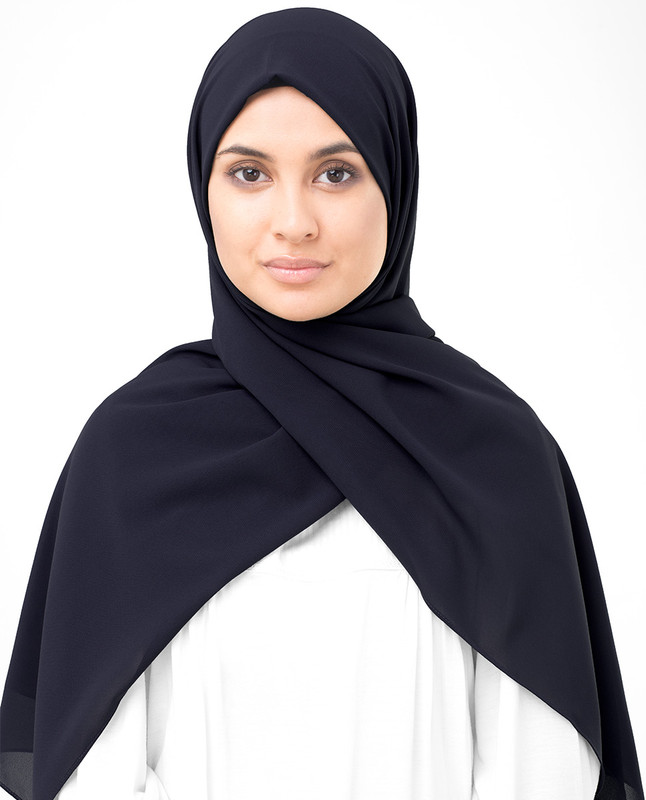Deep Well Poly Georgette Scarf