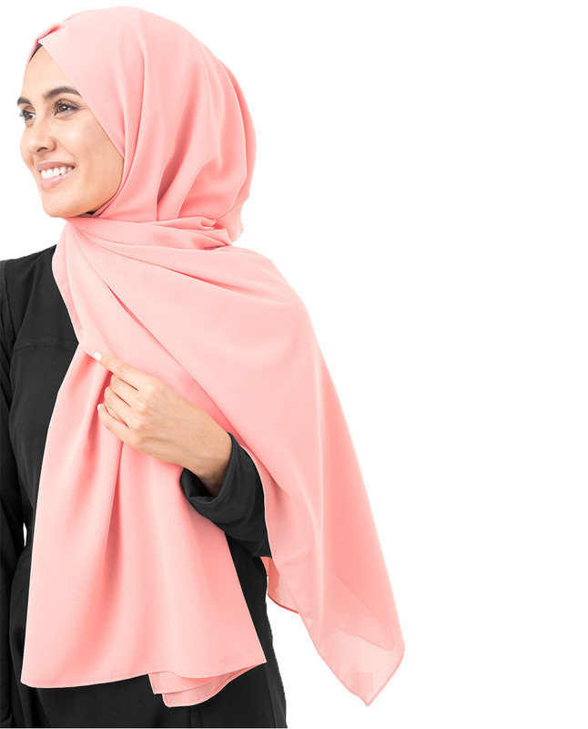 Pale Blush Poly Georgette Scarf
