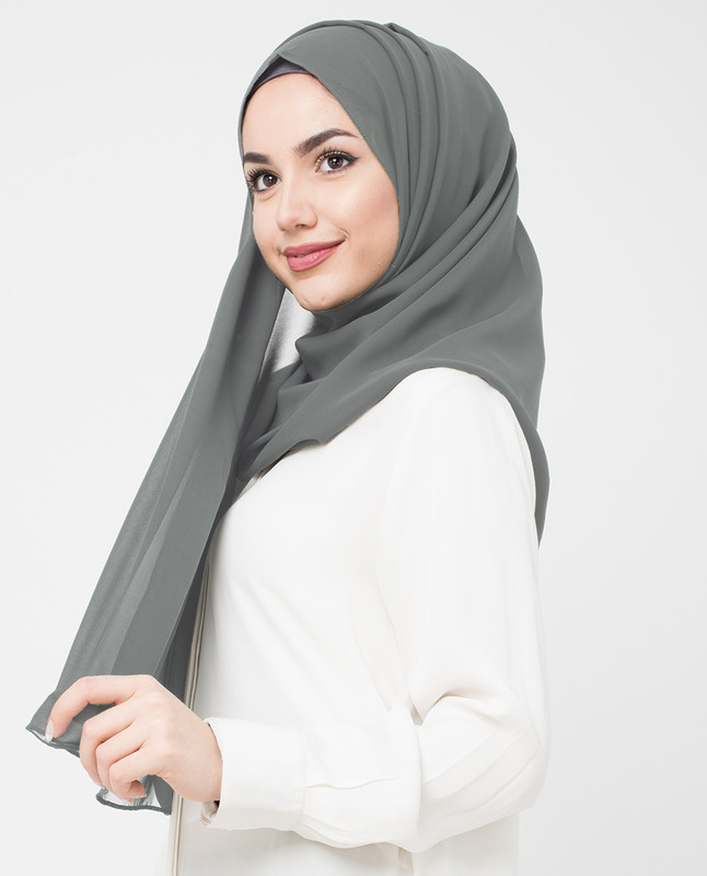 Quicksliver Grey Georgette Scarf