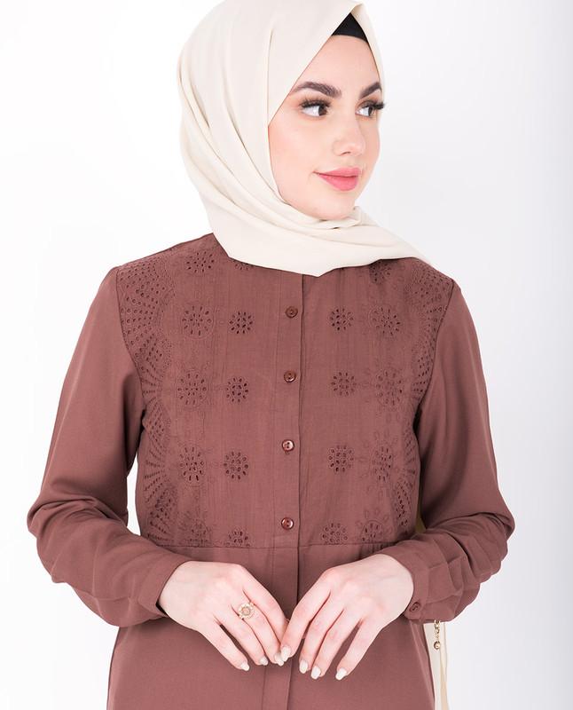 Shifley Cognac Shirt Dress