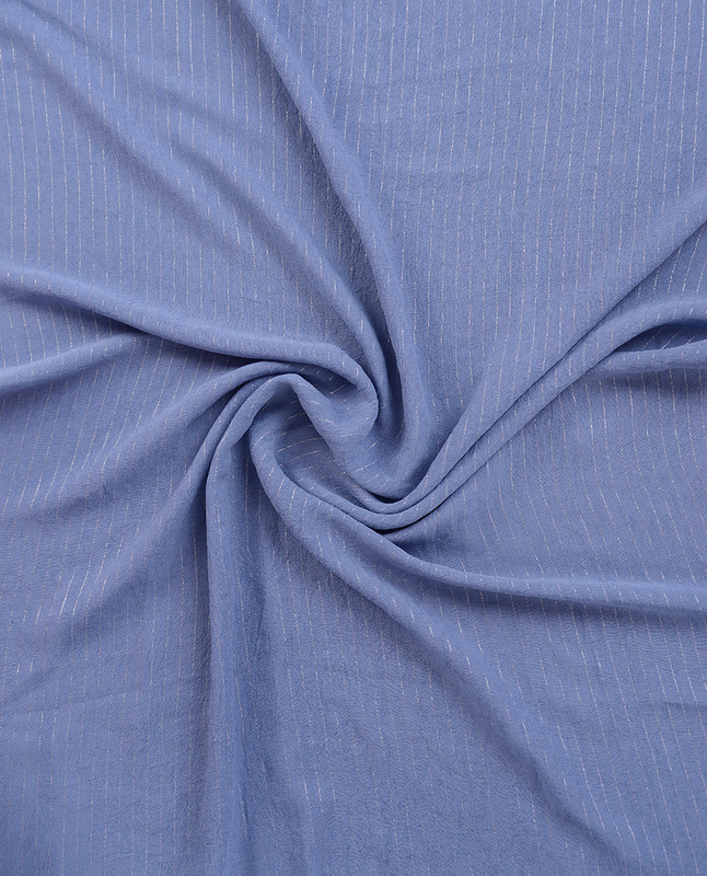 Coronet Blue Checked Chiffon Scarf