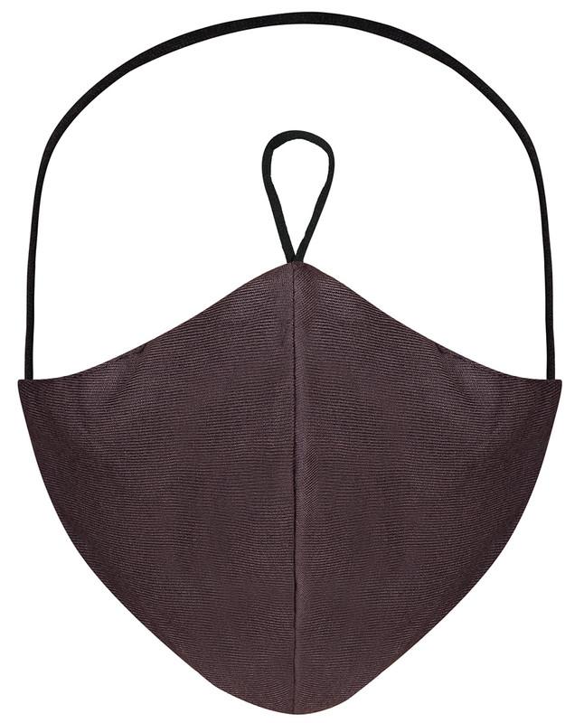 Chestnut Brown Hijab Friendly Plain Toggle Jersey Cloth Mask