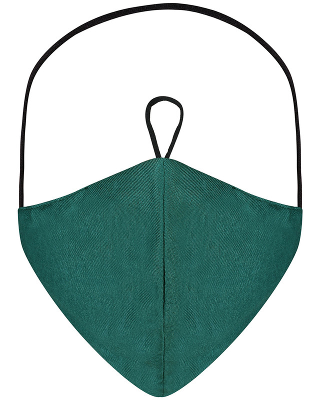 Deep Teal Hijab Friendly Plain Toggle Jersey Cloth Mask