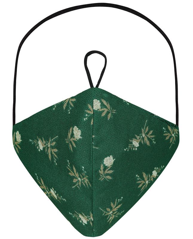 Galapagos Green Hijab Friendly Printed Toggle Cloth Mask