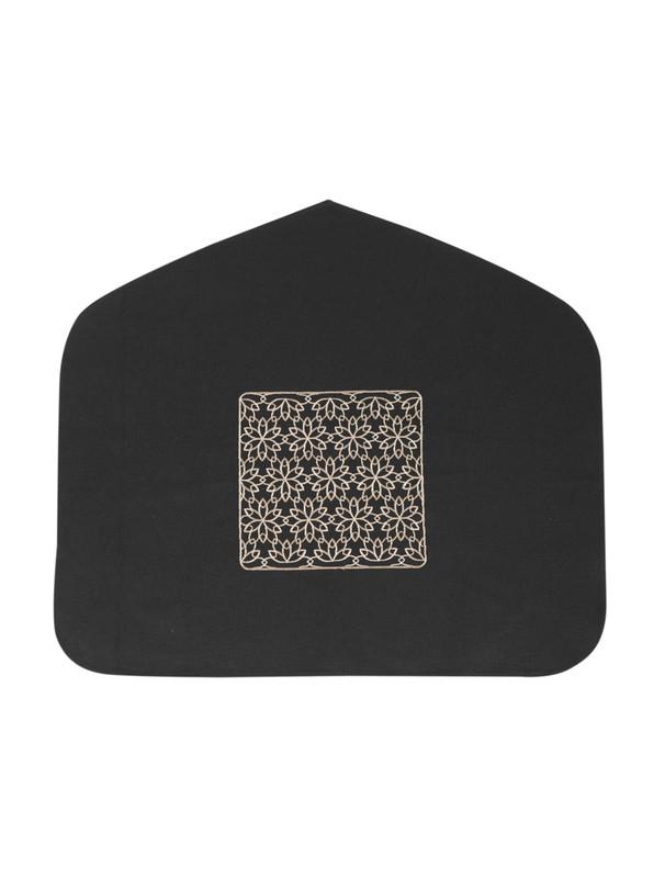 Islamic Geometric Pattern Embroidered Head Prayer Mat