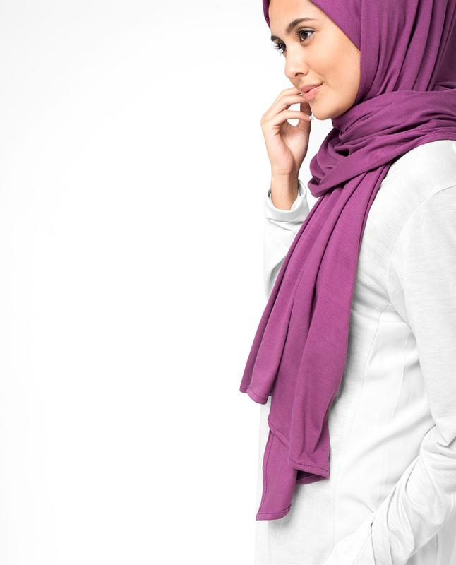 Damson Jersey Hijab