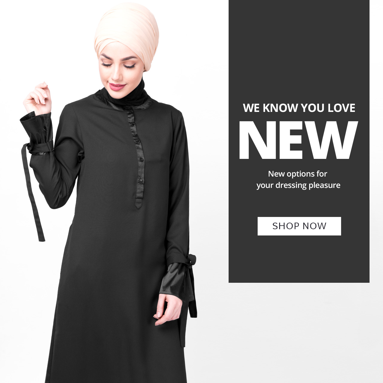 Abaya jilbab slip top