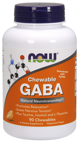 NOW Gaba Chewable 500 mg 90ct