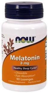 NOW Melatonin 3mg Chewable 90 ct