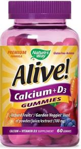 Natures Way Alive! Calcium + D3 Gummies